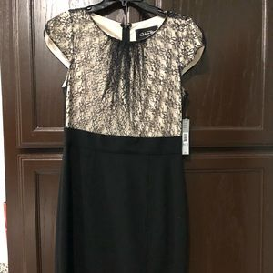 Black and Nude Lace Dress NWT